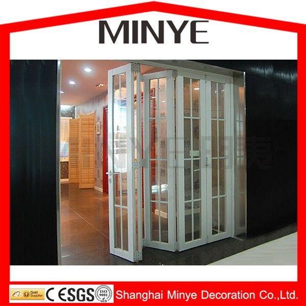 Divisorio interno muro porta/plastica in acciaio porte bifold/pvc porta a soffietto