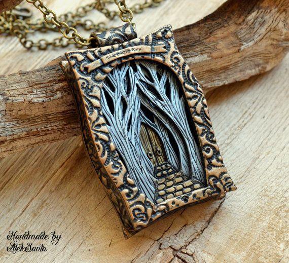 Fantasy necklace Fantasy pendant Fantasy by HandmadeByAleksanta
