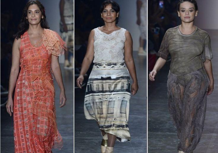 Fernanda Yamamoto coloca mulheres reais para cruzar a passarela. Veja tudo o que rolou no quinto dia de SPFW http://r7.com/pMnd