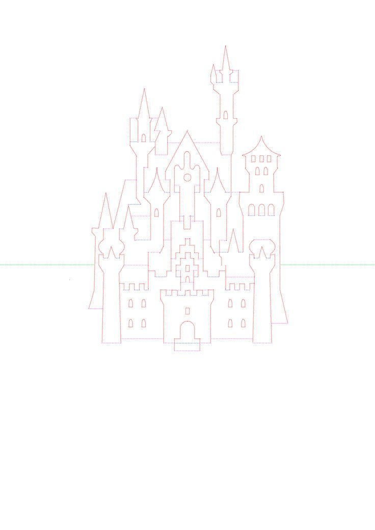Шаблон киригами «Замок Нойшванштайн» | Kirigami-pop-up | Kirigami-pop-up