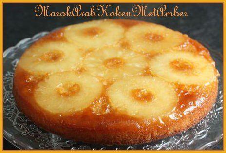 Een lekkere frisse cake met een topping van plakken ananas.Dit heb je nodig6-7 plakken ananas uit blik30 gram suiker voor de bakvorm en een beetje boter100 gram bloem100 gram