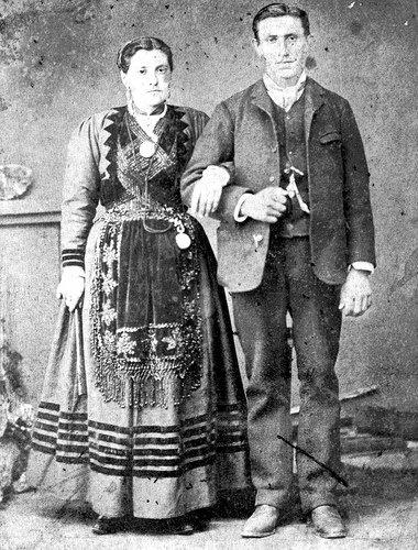 Foto de boda, siglo XIX.