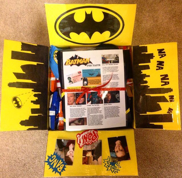 Batman Themed Care Package Made This For My Us Marine