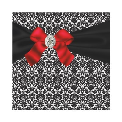 Black Tie Party Red Black Damask Party Invitation from http://www.zazzle.com/40th+birthday+party+invitations