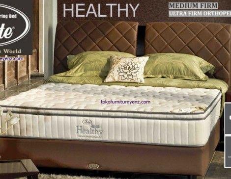 Elite Spring Bed Harga HEALTHY  Matras 27 Cm, Divan Paris 32 cm, Sandaran Olive C1 : 140 cm Ultra Firm Orthopedic Mattress [medium firm] - See more at: http://www.tokofurnitureyenz.com/product/elite-spring-bed-harga-healthy/#sthash.tQC9pHYv.dpuf