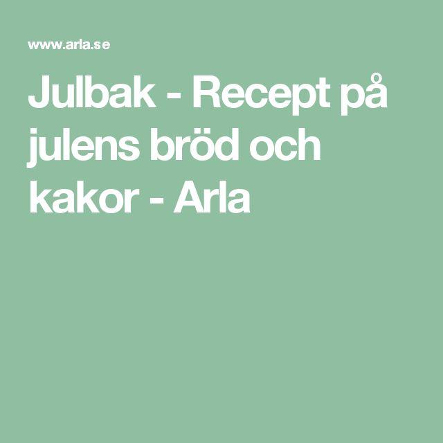 Julbak - Recept på julens bröd och kakor - Arla