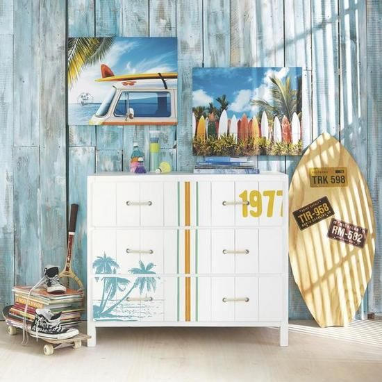 M s de 20 ideas incre bles sobre decoraci n surfera en - Tabla surf decoracion ...