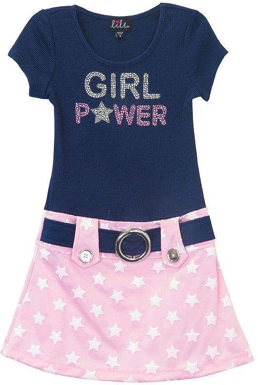07450865abac Lilt Short Sleeve Drop Waist Dress - Preschool Girls | Products ...