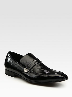 Versace Collection Black Logo Loafers