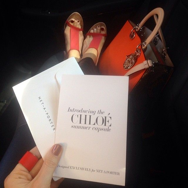 On my way to last nights event with @Chloe Allen and @NET-A-PORTER.COM #summerstyle #fashion