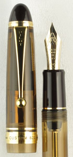 Pilot Custom 823 Amber Demonstrator Fountain Pen