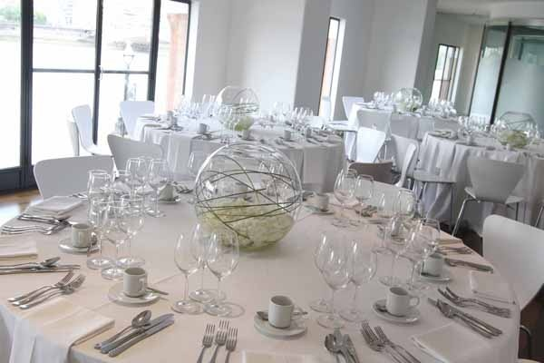 Wedding tables at OXO2