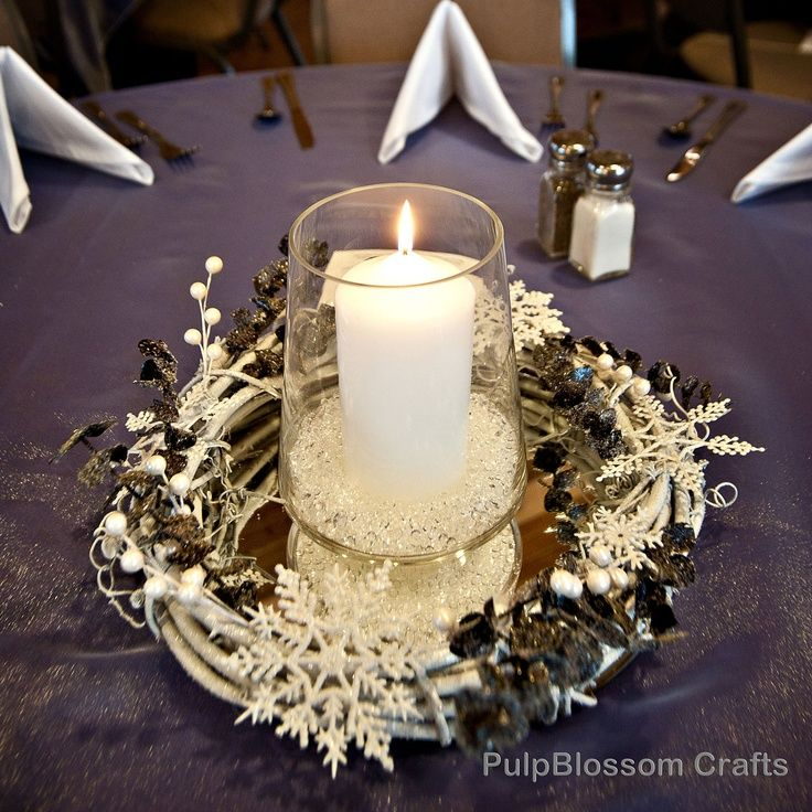 winter wedding centrepieces - Google Search