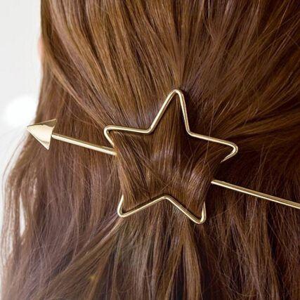 2016 Haaraccessoires Goud verzilverd liefde ronde Hart Ster Haar Clips Haarspeld gereedschap voor vrouwen meisjes brincos