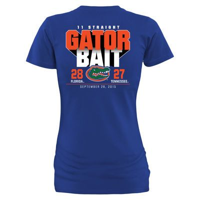 Women's Florida Gators vs. Tennessee Volunteers Royal 2015 Score T-Shirt