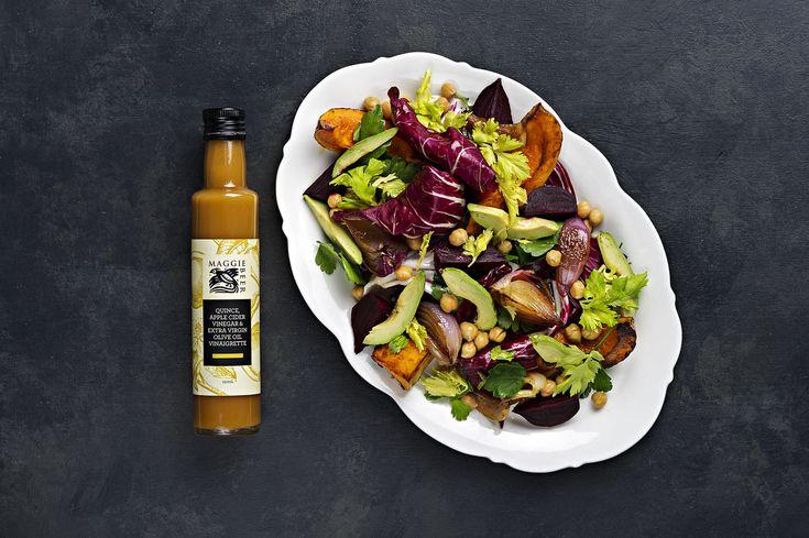 Chickpea, Beetroot & Roasted Pumpkin Salad - Maggie Beer