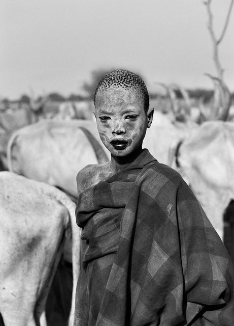 Dinka child, Southern Sudan, 2006, by Sebastião Salgado: