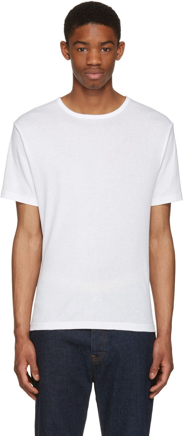 BLK DNM White Classic Fitted Greaser 43 T-Shirt. #blkdnm #cloth #t-shirt