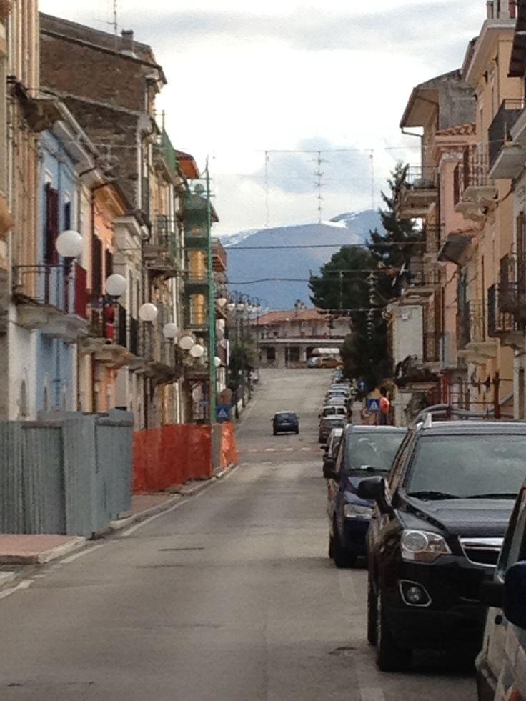 Streets of Popoli, Italy