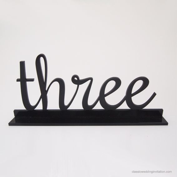 Laser Cut Table Numbers - Classic Wedding Invitations