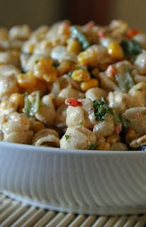 Jo and Sue: Spicy Southwest Pasta & Corn Salad With Chili Lime Dressing