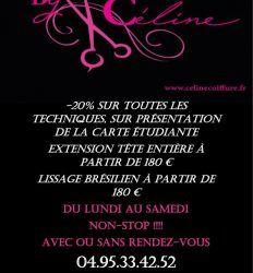 Réduction de – 20 % Spécial Etudiants Au Salon de Céline !