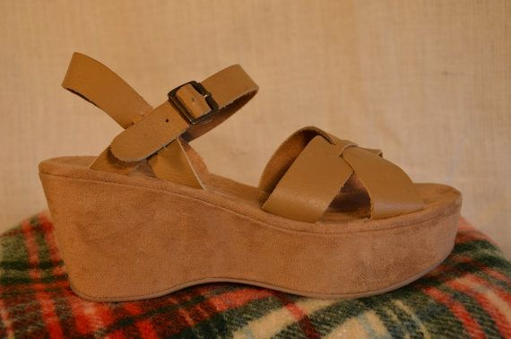 Who remembers these!!!!  I had a pair, for sure.  Loved 'em.  Heels without the foot pain.