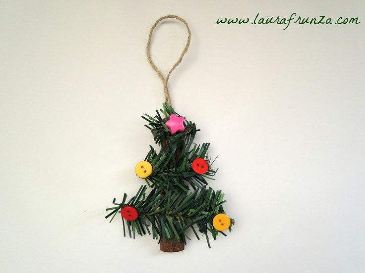 Recycle an old plastic Christmas tree into decorations