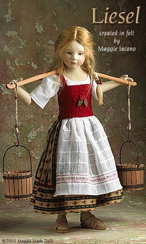 Leisel 17 Inch Tall Felt Doll Special Limited Edition : 25 Created in 2002