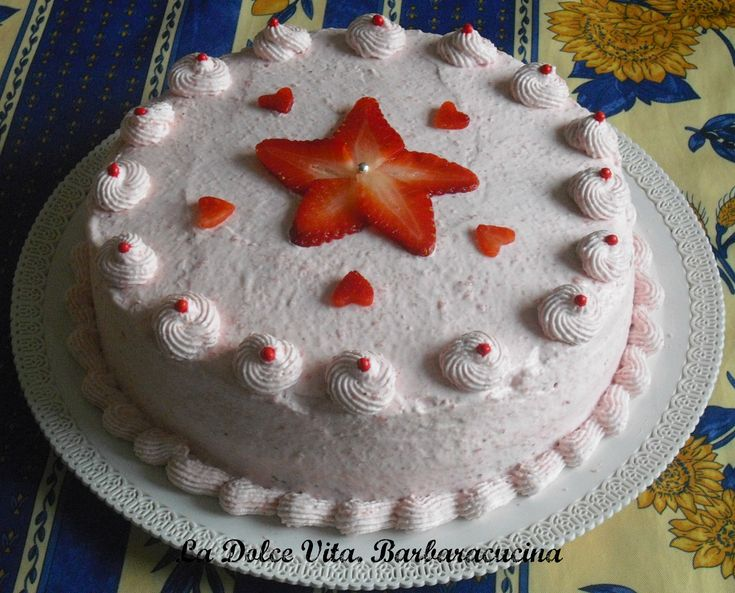 #Torta alle fragole con la #panna @guarnireipiatti