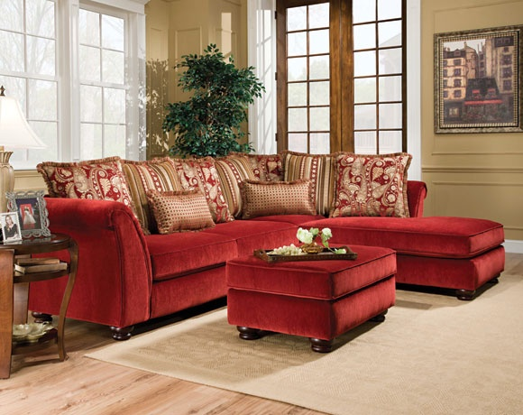 Venice scarlett 2 piece sectional sofa my american freight pinspired home pinterest for American freight 7 piece living room set
