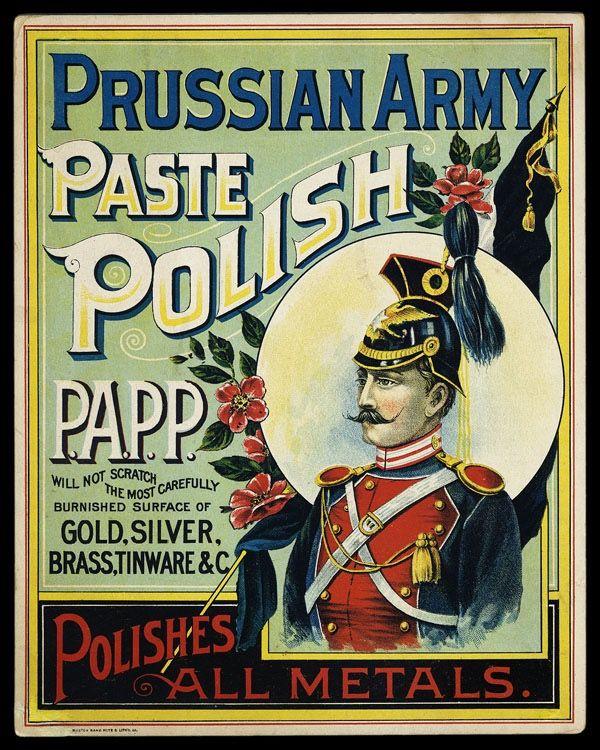 Prussian Army Paste Polish | Sheaff : ephemera