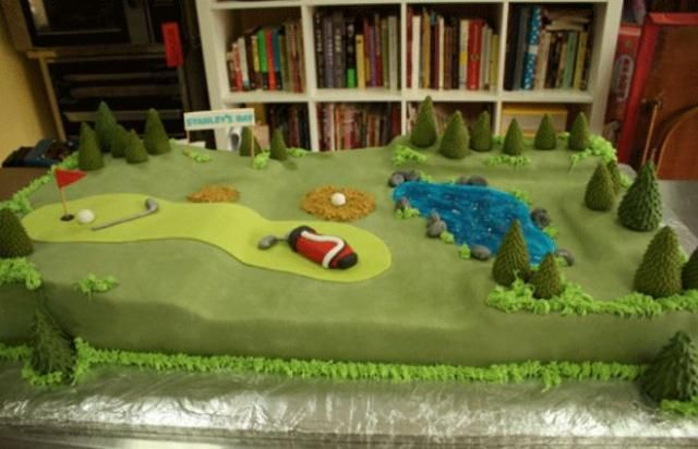 GOLF THEME BABY SHOWERS   Pin Golf Course Themed Cake Nj Custom Specialty Cakes Sweet Grace Cake ...