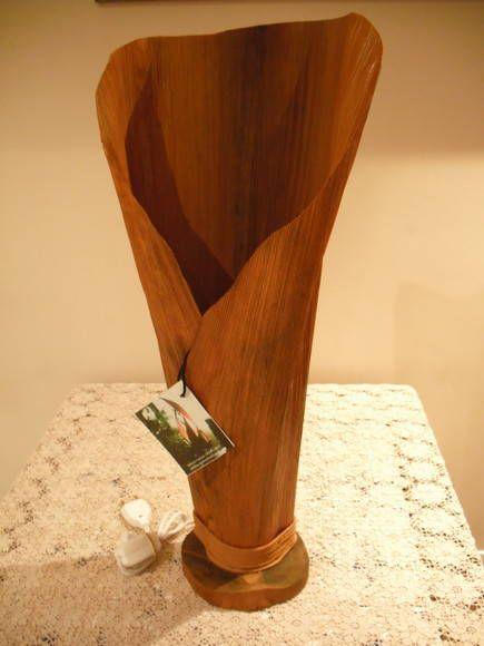 abajur de palha de coqueiro