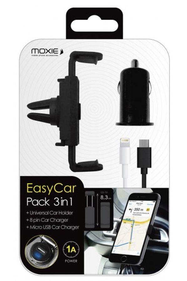 Support pour téléphone mobile Moxie SUPPORT UNIVERSEL VOITURE AVEC CHARGEUR ALLUME-CIGARE