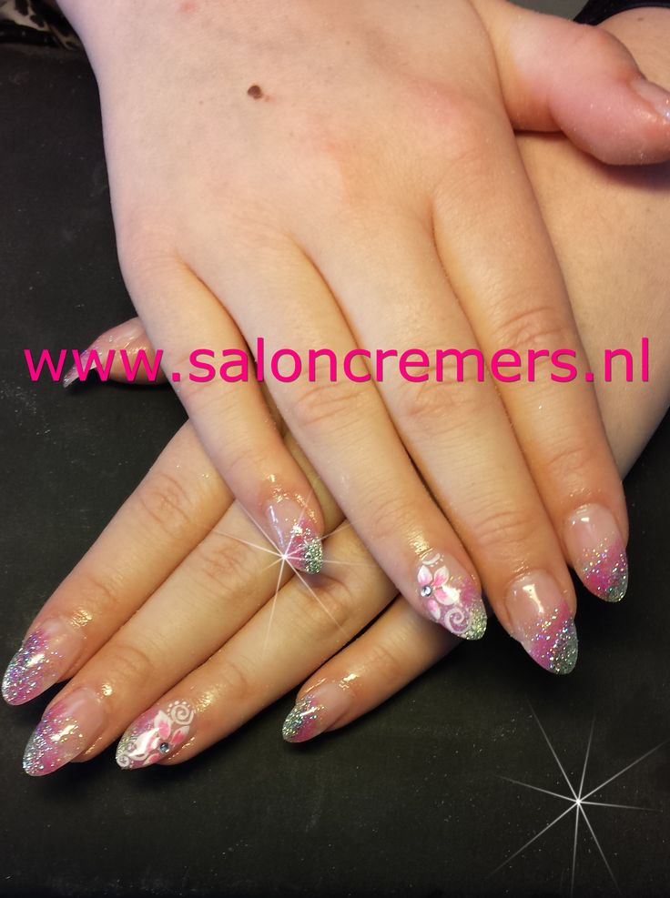 glittery almond shape nails   Nails   Pinterest   Almond ...