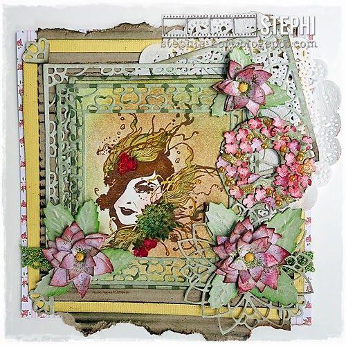 Noor! Design Clear Stamp Floral Lady