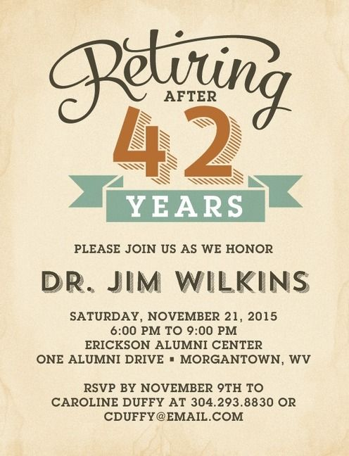 Best 20 Retirement party invitations ideas – Invitation to Retirement Party
