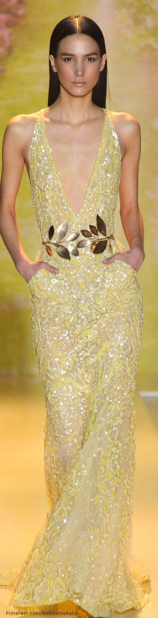 Zuhair Murad Haute Couture | S/S 2014 - I'm sorry, but using models this thin is just so...wrong. It's painful to see her.