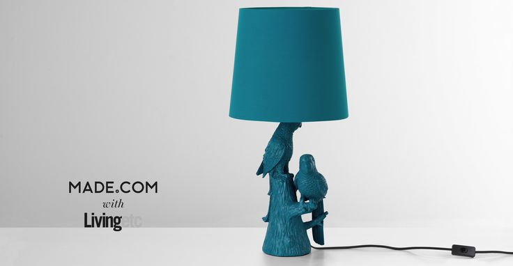 Parrot Table Lamp, in Teal