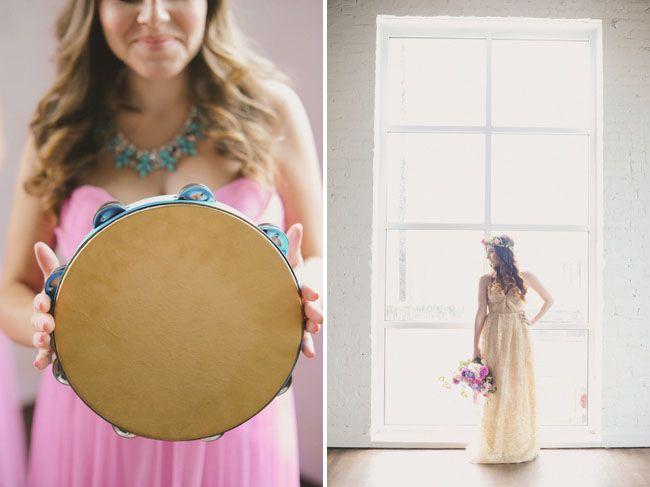 tambourine bridesmaids