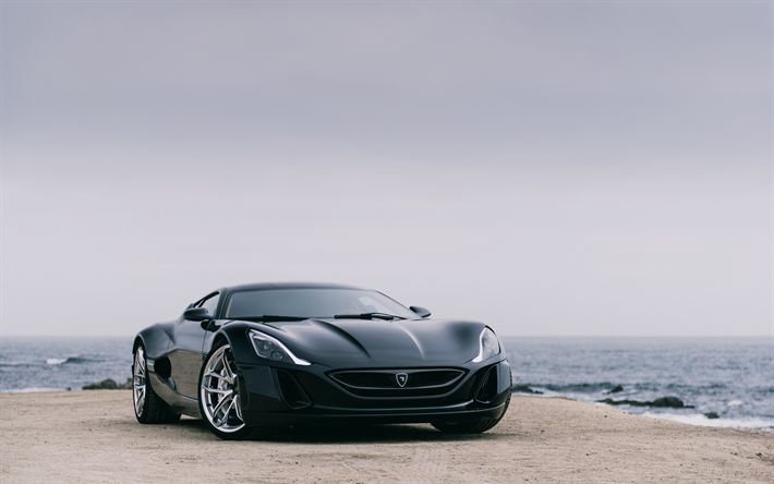 Download wallpapers Rimac Concept One, 4k, 2018 cars, supercars, Rimac