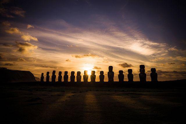 Sunrise in Ahu Tongariki, Easter Island