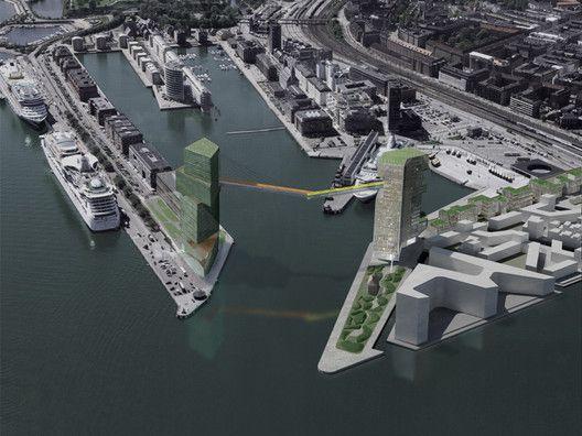"Steven Holl's ""Copenhagen Gateway"" Will Finally Go Ahead (Terrifying Bike Lane Included),© Steven Holl Architects"