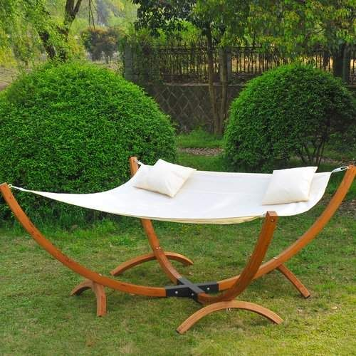 Genevrier 2 Person Extra Wide Double Chair Hammock With Stand