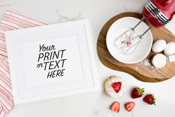 Print Background / Blank Frame / Styled Stock Photography / Product Photography / Staged Photography / Red / Fruit / Baking / Kitchen / K002