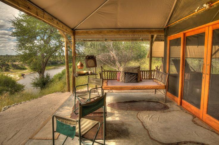 Your private veranda overlooking the river