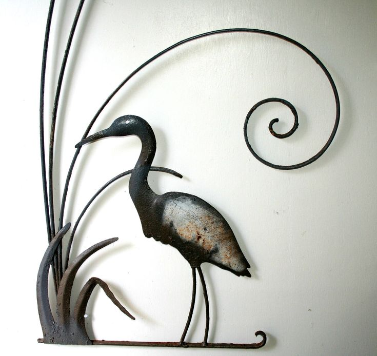 Vintage Screen Door Grille, Decorative Florida Crane, Mid Century Screen Door Insert by WarmNature on Etsy https://www.etsy.com/listing/544840348/vintage-screen-door-grille-decorative