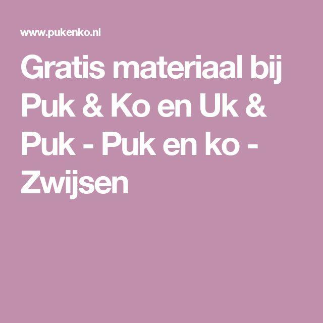 Gratis materiaal bij Puk & Ko en Uk & Puk - Puk en ko - Zwijsen