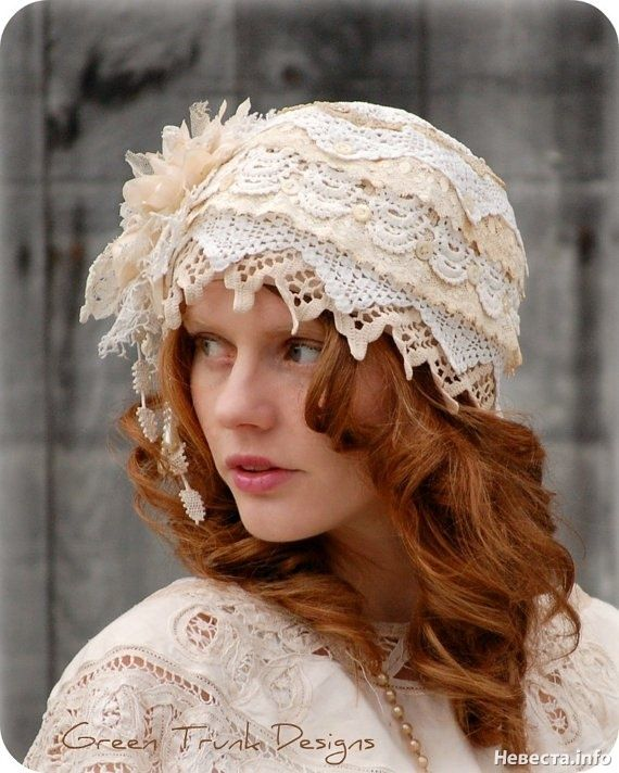 Retro style #wedding hat.  Get inspired at diyweddingsmag.com